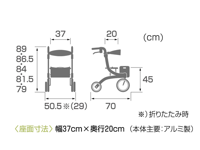 KW40サイズ表